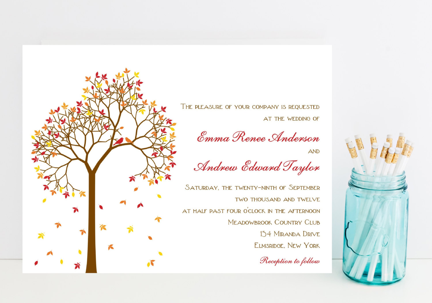 Fall Wedding Invitations | Mid-South Bride