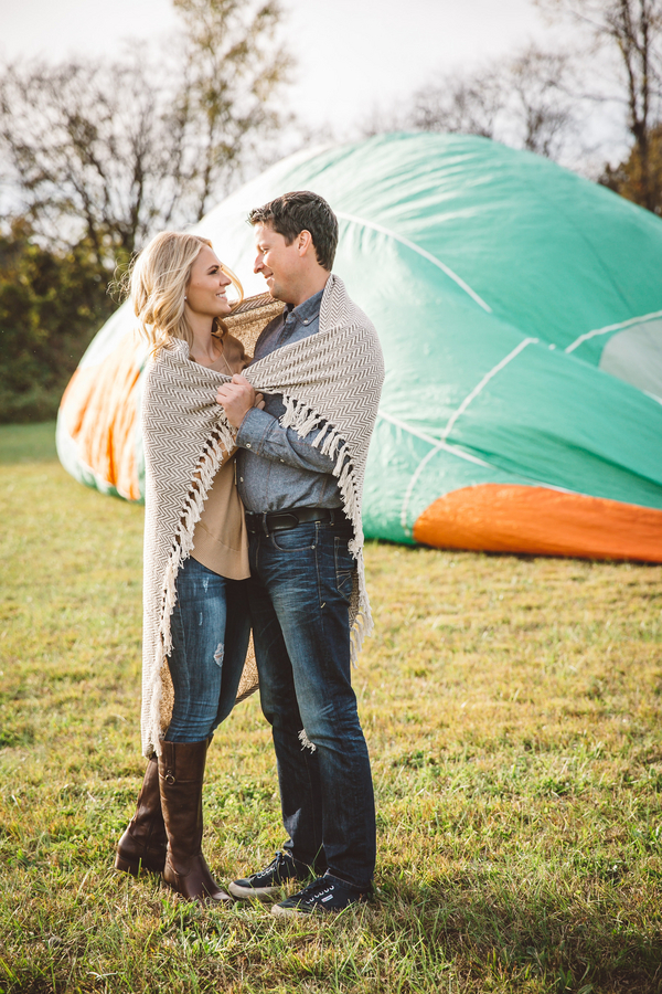 Darby & Garrett's Hot Air Balloon Engagement Session - photo by SheHeWe Photography - midsouthbride.com 28