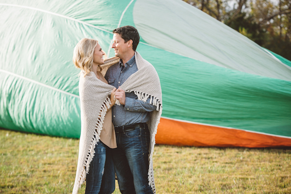 Darby & Garrett's Hot Air Balloon Engagement Session - photo by SheHeWe Photography - midsouthbride.com 29