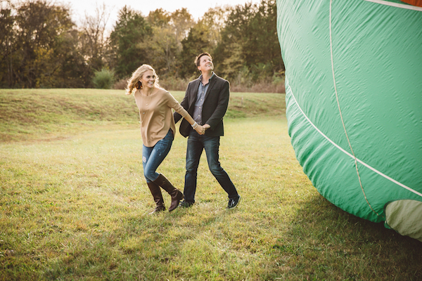Darby & Garrett's Hot Air Balloon Engagement Session - photo by SheHeWe Photography - midsouthbride.com 31