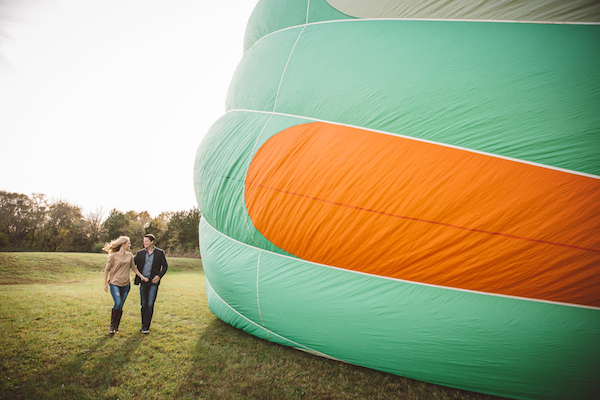 Darby & Garrett's Hot Air Balloon Engagement Session - photo by SheHeWe Photography - midsouthbride.com 32