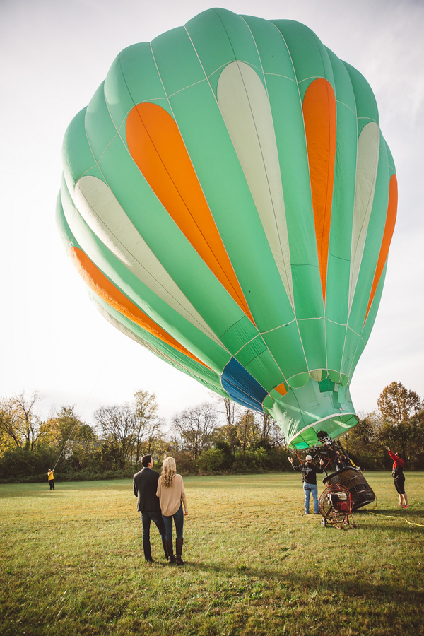 Darby & Garrett's Hot Air Balloon Engagement Session - photo by SheHeWe Photography - midsouthbride.com 36