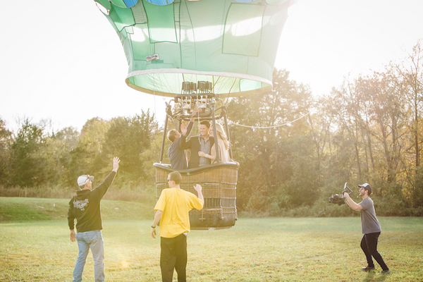 Darby & Garrett's Hot Air Balloon Engagement Session - photo by SheHeWe Photography - midsouthbride.com 39