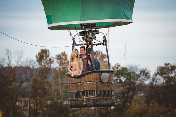 Darby & Garrett's Hot Air Balloon Engagement Session - photo by SheHeWe Photography - midsouthbride.com 47