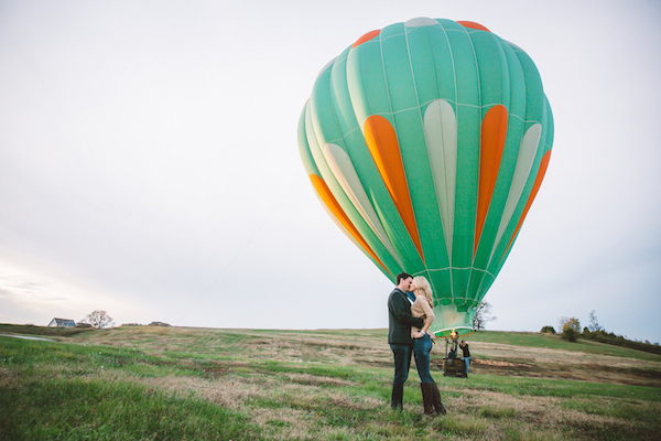 Darby & Garrett's Hot Air Balloon Engagement Session - photo by SheHeWe Photography - midsouthbride.com 51
