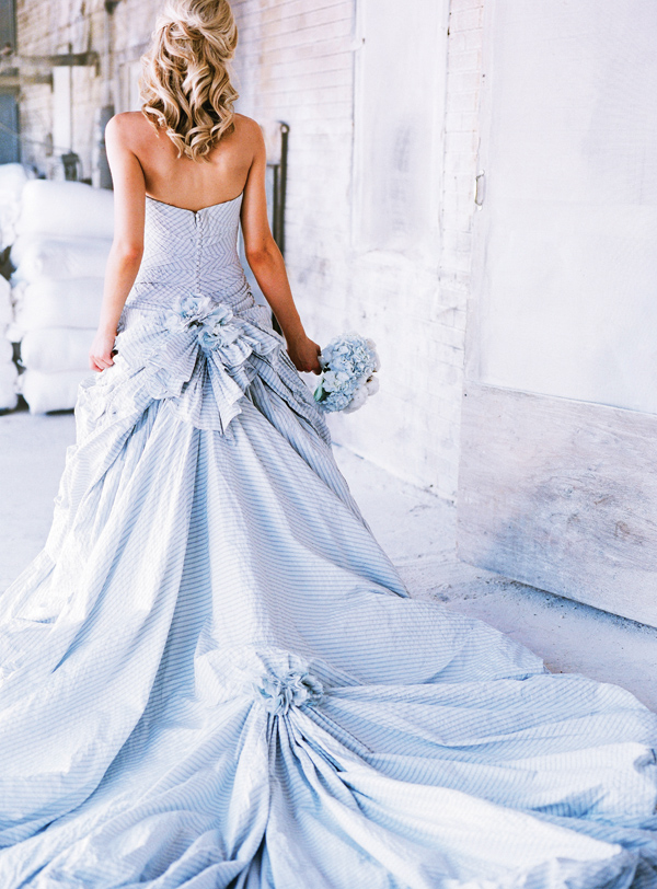 light blue wedding dress - serenity Pantone color of 2016