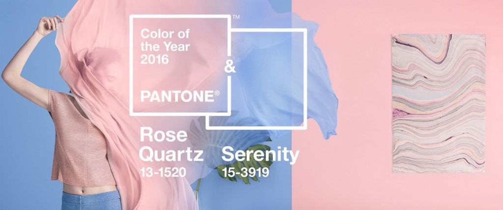 pantone color of the year - rose quartz and serenity