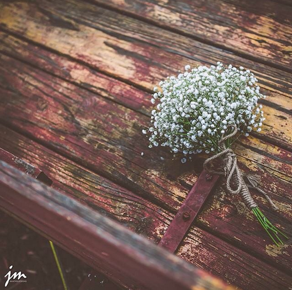 simply lovely babys breath bouquet - photo by J Mathis Designs