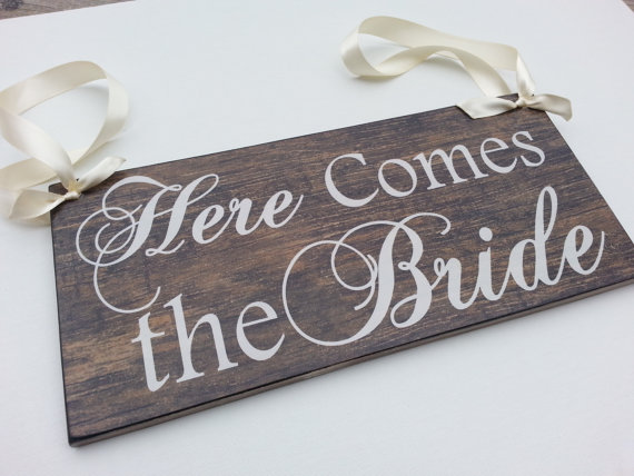 Here Comes The BRIDE Signs, Wood Background, Wedding and photo props