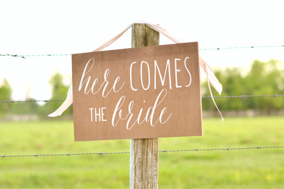 Here comes the Bride sign, Uncle here comes your bride sign, Uncle here comes your girl, ring bearer sign, here comes the bride sign