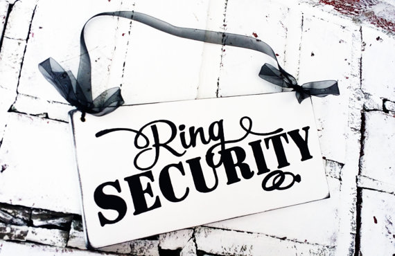 Weddings, Wedding Party, Ring Bearer, %22Ring Security%22 sign for Ring bearers to carry during wedding ceremony