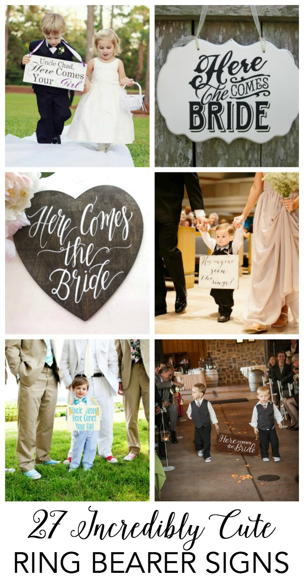 cute ring bearer wedding signs to buy