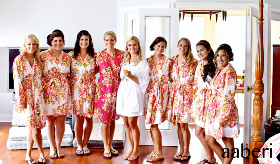 floral bridesmaid robes at etsy