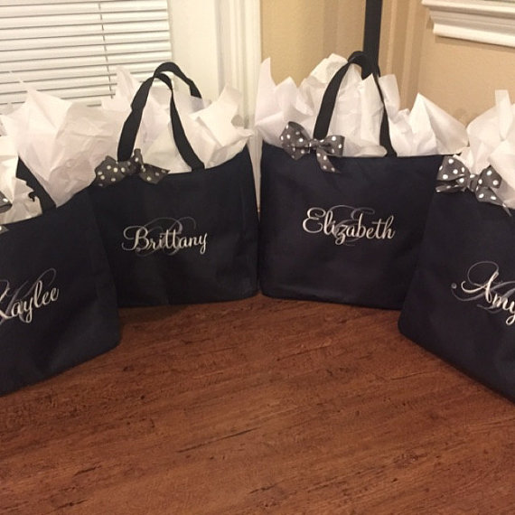 bridesmaid tote bags for bridesmaid gifts