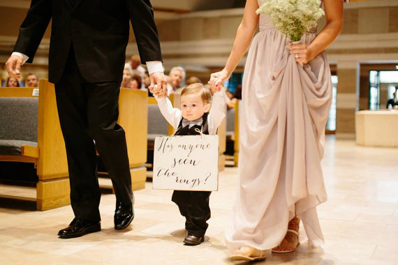 wedding ring bearer Sign Wedding Sign Wedding, Has anyone seen the rings Bride Ring Bearer sign