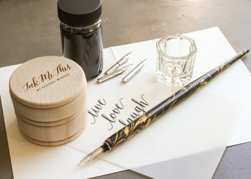 get started in calligraphy - Calligraphy Starter Set by Kestrel Montes