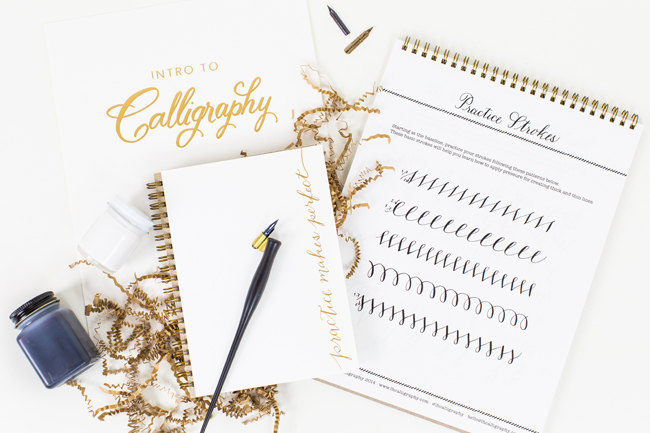 how to get started with calligraphy - laura hooper calligraphy starter kit