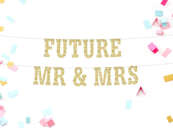 Future Mr & Mrs Banner - engagement party sign banner