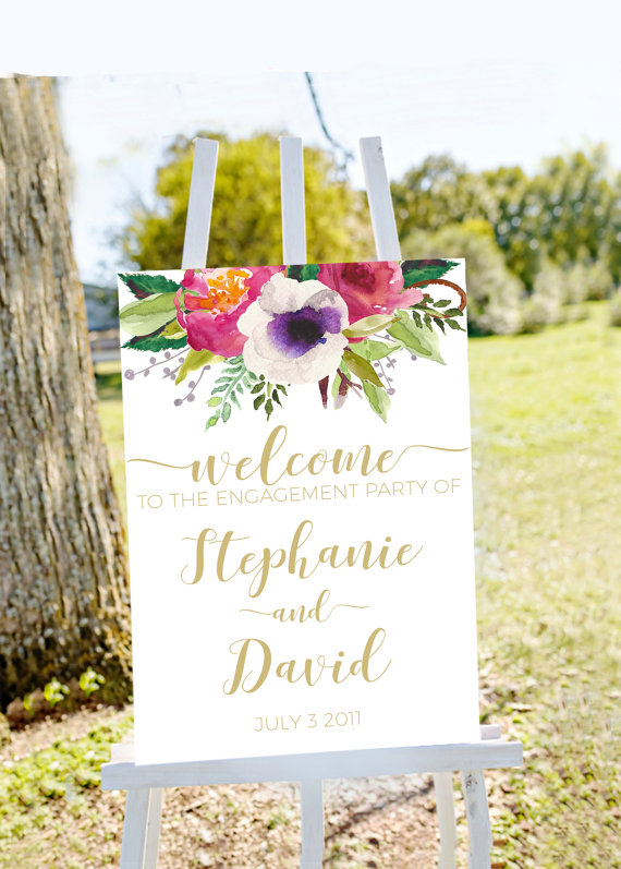 engagement party welcome sign
