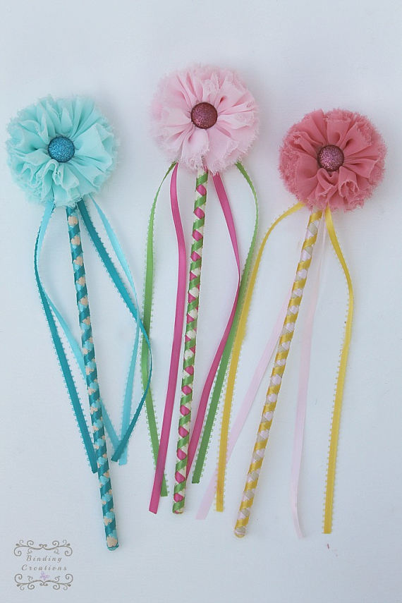 Girls Flower Wand for wedding flower girls alternatives