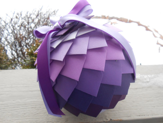 Purple Kissing Ball flower girls alternative