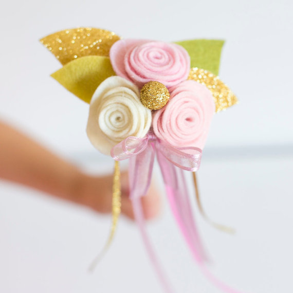 flower girl ribbon wand - flower girl alternative