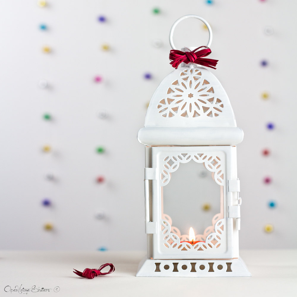 flower girl white lantern with alternative