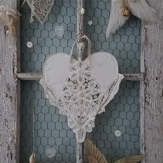 lace heart Flower Girl alternative idea