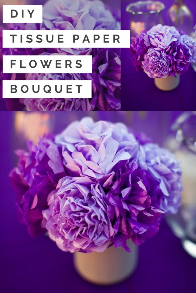 diy tissue paper flowers bouquet