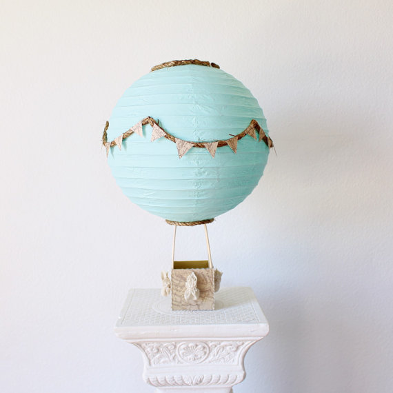 Hot Air Balloon Centerpiece Decoration - Travel Theme Centerpiece - Travel Bridal Shower Decor