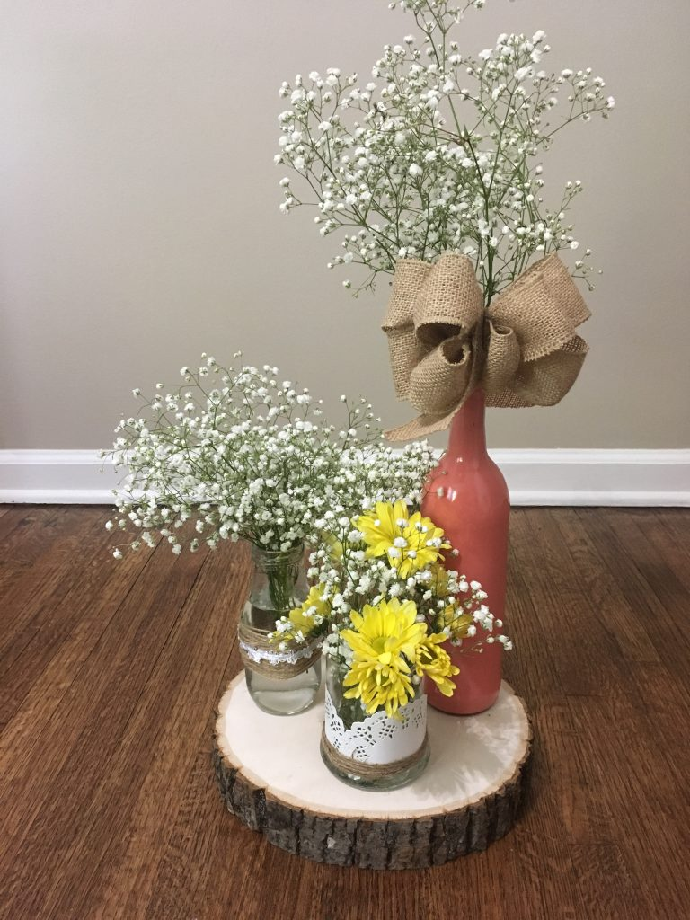3 easy diy rustic wedding centerpiece ideas mid south bride you can mix and match the options to create various wedding centerpieces for your tables you can create several of each type and then use them individually junglespirit Gallery