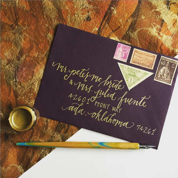 Ada Script- Custom Wedding Calligraphy- Envelope Addressing by The Scribblist - midsouthbride.com