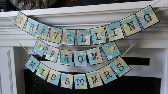 Travelling from miss to mrs, Travel theme Bridal Shower , From miss to mrs banner, destination wedding, wedding decor nautical theme
