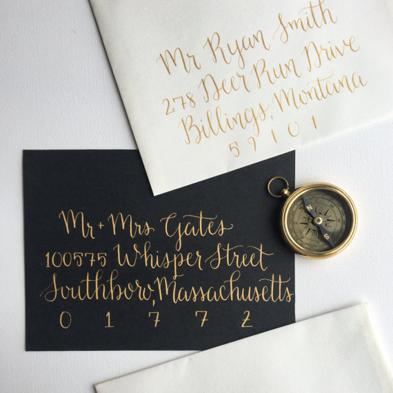 Wedding Calligraphy Envelope Addressing, Hand Lettered Envelopes ny Love Always Cards - midsouthbride.com