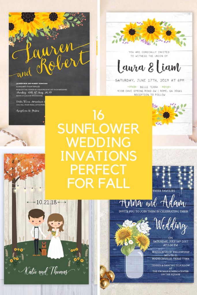 16  SUNFLOWER WEDDING INVITATIONS