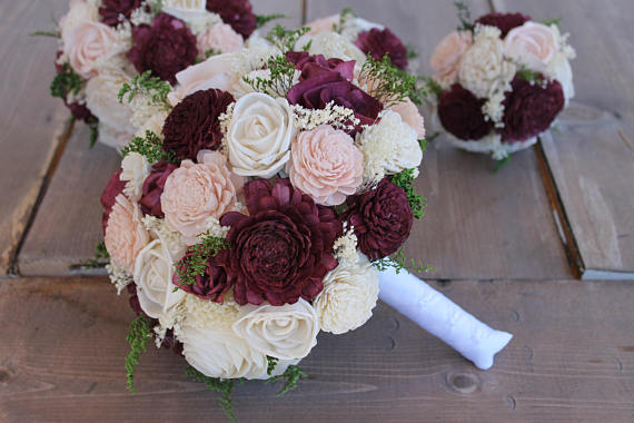 wooden flowers wedding bouquets winter wedding bouquets you can keep forever mid south 1486