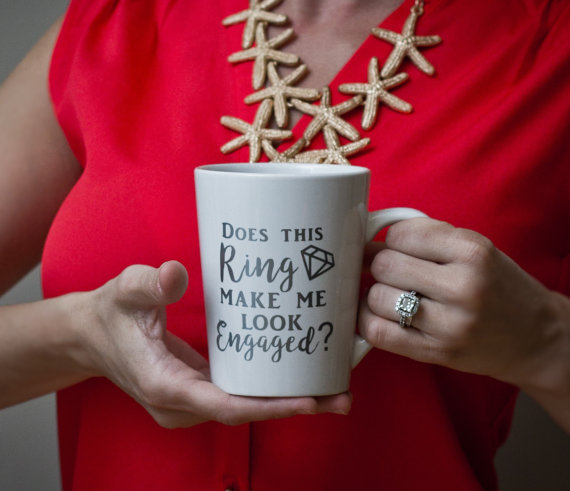 Does This Ring Make Me Look Engaged Mug by Lovely Scraps Studio