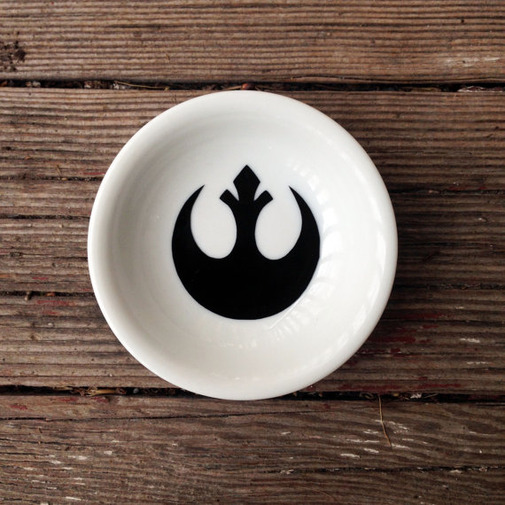 Ring Dish | Star Wars Wedding | Rebel Alliance | Engagement Gift | Jewelry Dish by Black Craft