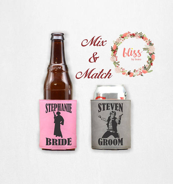 Star Wars Wedding Leather Can Coolers by Bliss By Bravo
