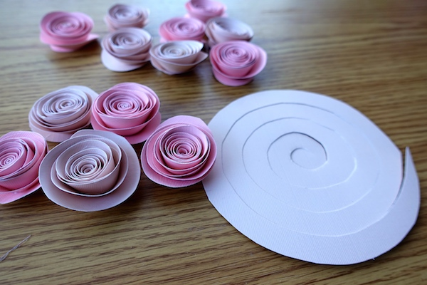 diy paper flowers diy rolled paper roses tutorial