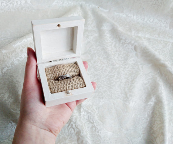 engagement ring box ideas White rustic engagement ring box