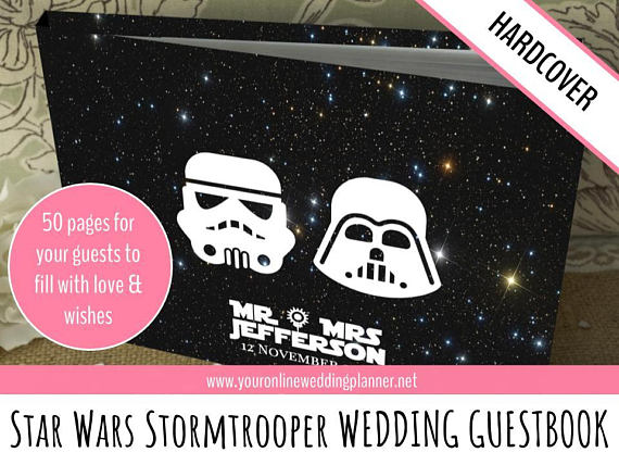 star wars wedding guest book by Ultimate Planner