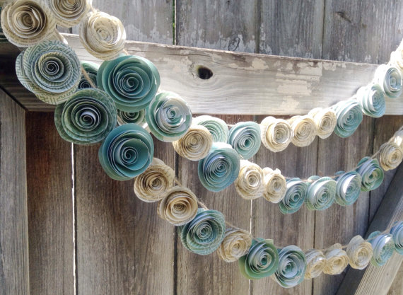 Diy Rolled Paper Flower Garland Tutorial Mid South Bride