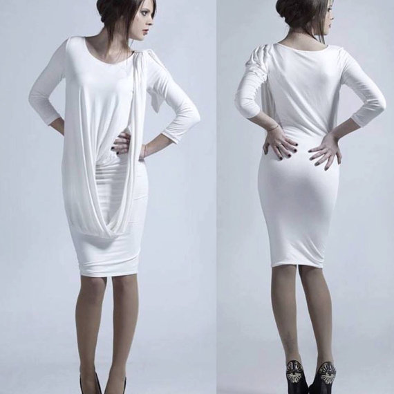 Bodycon Dress Little White Dress by Ralele
