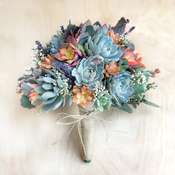 Beautiful Succulent Wedding Bouquets Mid South Bride