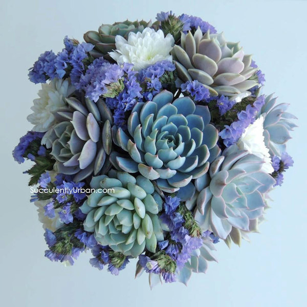 Succulent Wedding Bouquet by Succulently Urban - midsouthbride.com
