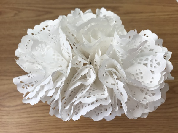 Diy Paper Doily Flowers Tutorial Mid South Bride
