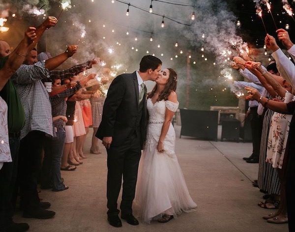 where to buy sparklers for sparkler wedding sendoff - photo by Whit ...