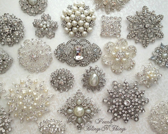 Where To Find Brooches For A Bridal Bouquet Mid South Bride