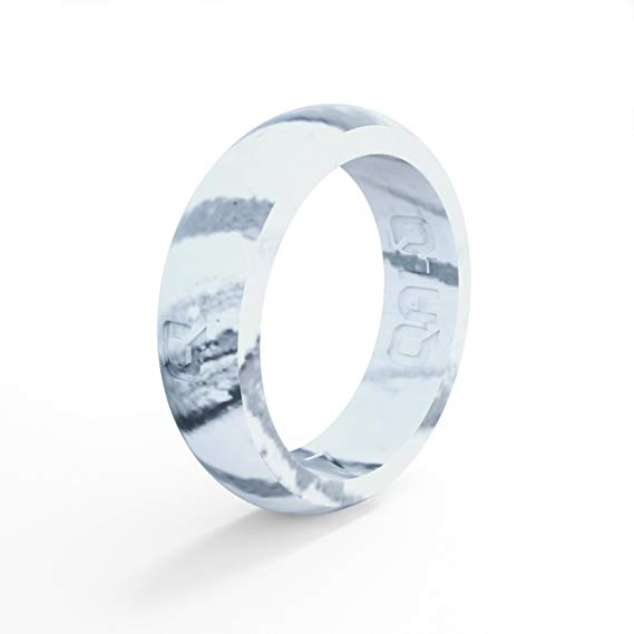 Marble Silicone Wedding Ring by Qalo